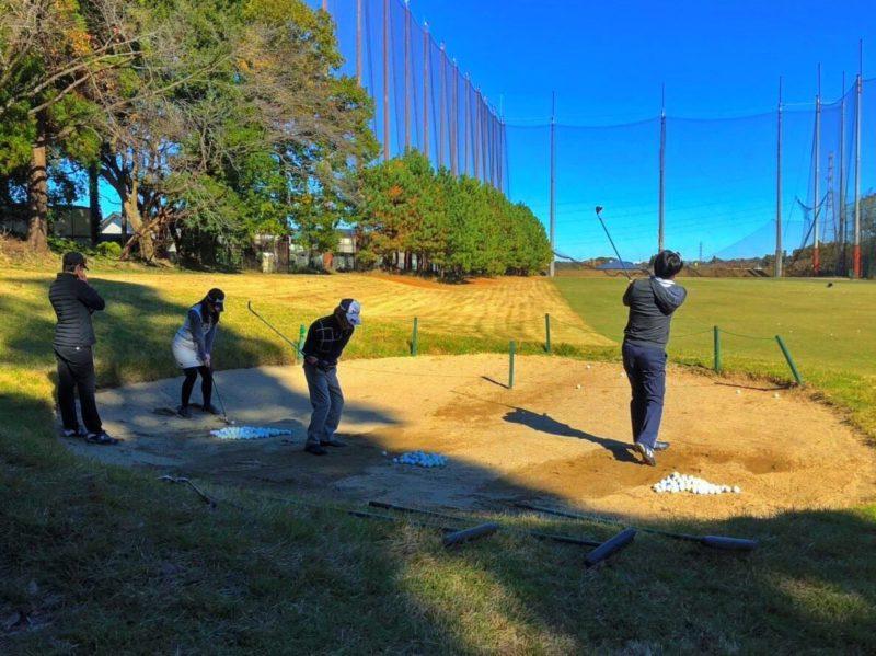 千葉県ゴルフ合宿 バンカーレッスン