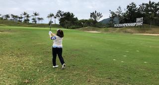 沖縄ゴルフ合宿 ラウンドレッスン