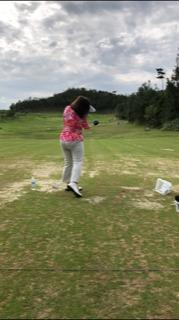 沖縄ゴルフ合宿 レンジレッスン