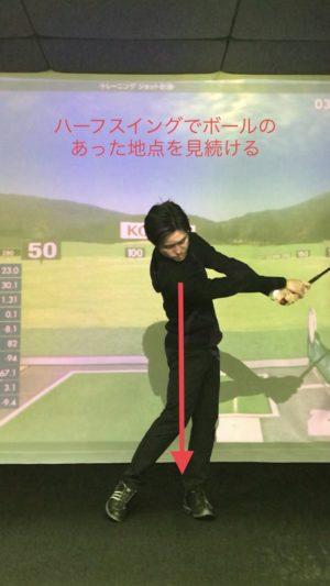 谷将貴 TANIMASAKI ゴルフレッスン ゴルフアカデミー 頭が動く 頭を残す 頭を動かさない