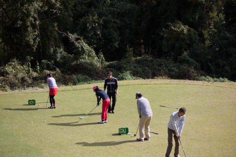 千葉県ゴルフ合宿 アプローチレッスン