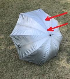 雨の日ゴルフ ラウンド中の傘の置き方