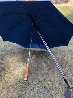 雨の日ゴルフ クラブの置き方