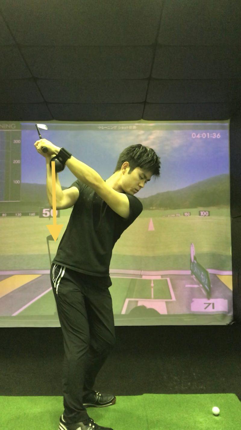 ゴルフ スライス 直す バックスイング フライングエルボー シンプルマスター SimpleMaster CB
